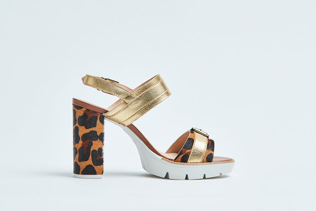 Heidi Heel - Leopard Gold - Hey Monday