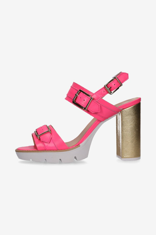 Heidi Heel Hot Pink / Gold