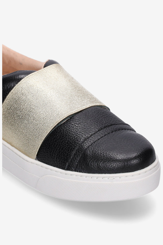 Hailey Sneaker  Black/Gold