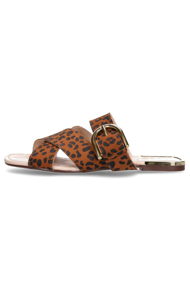 Hey Monday Archie Brown Leopard Sandal