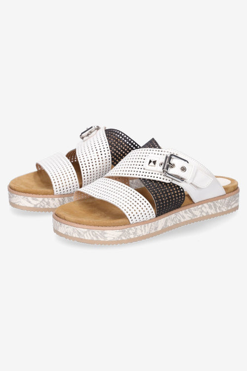Hey Monday Bella Sandal - White/Black