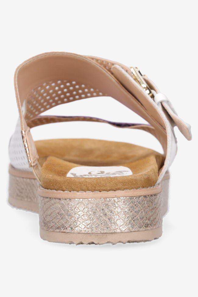 Hey Monday Bella Sandal - White/Purple/Gold