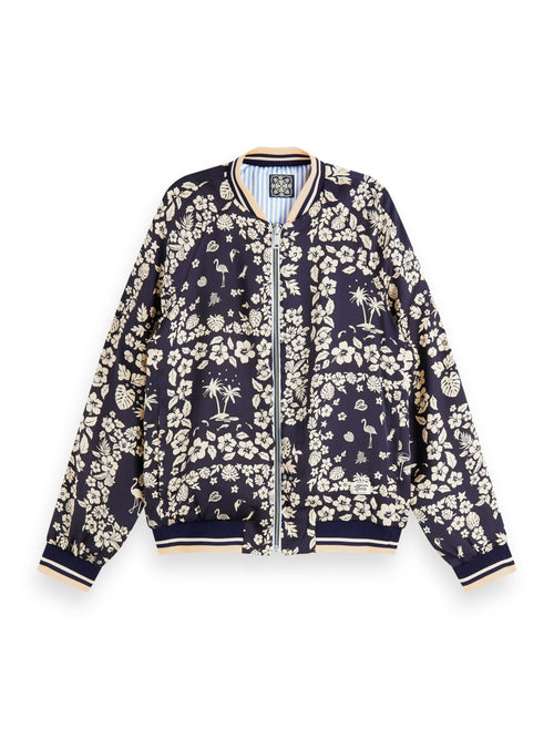 Scotch & Soda Printed Reversible Bomber Jacket