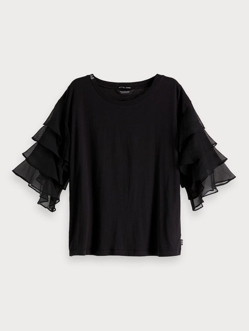 Ruffle Top Black - Scotch & Soda