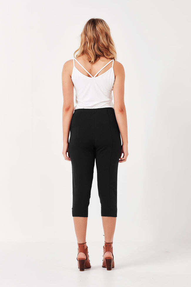 Vienna Cropped Pant Black