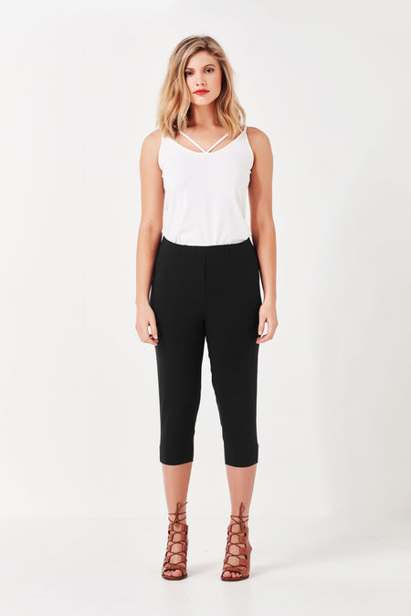 Vienna Cropped Pant White