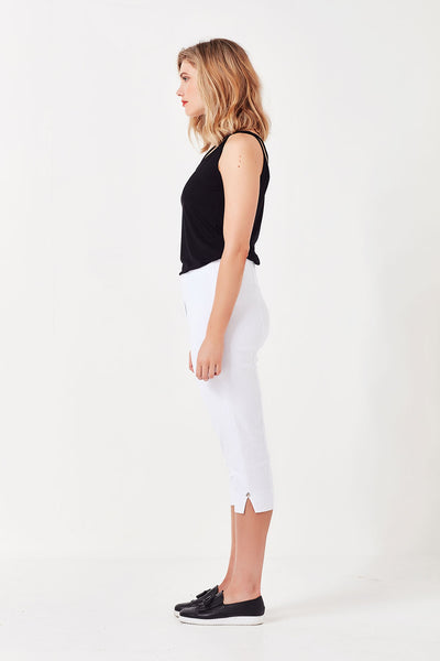 Vienna Cropped Pant White - Lemon Tree