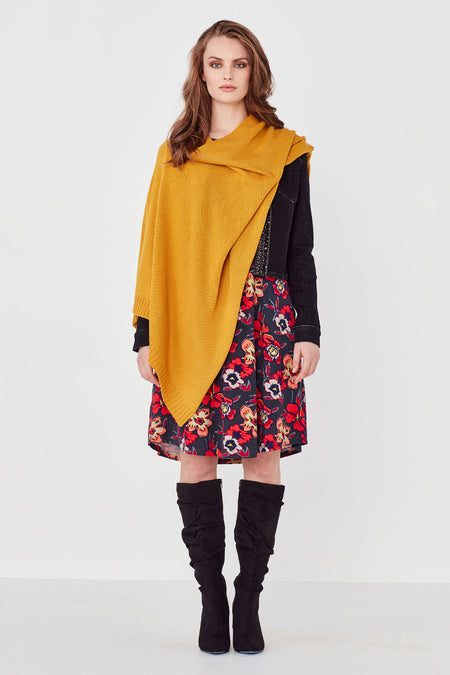 Lemon Tree Merino Blend Cape - Red