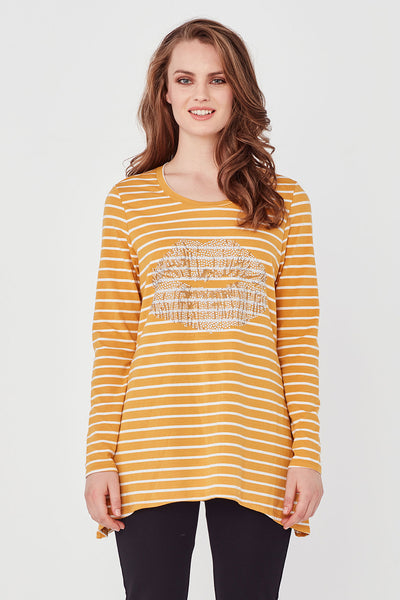 Lip Tee - Plain Gold( not stripe)
