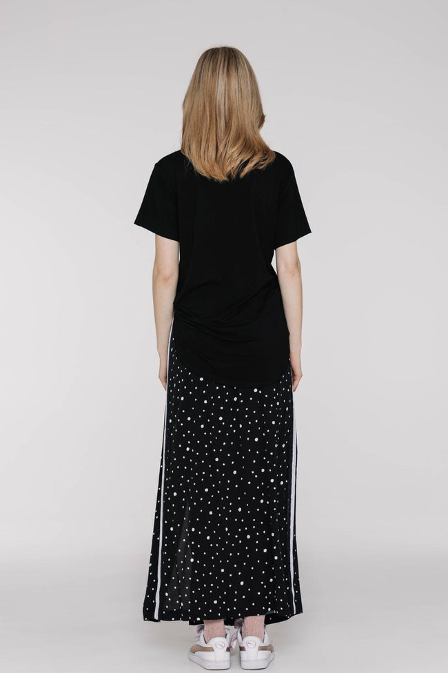 Riko Skirt Black with White Dots