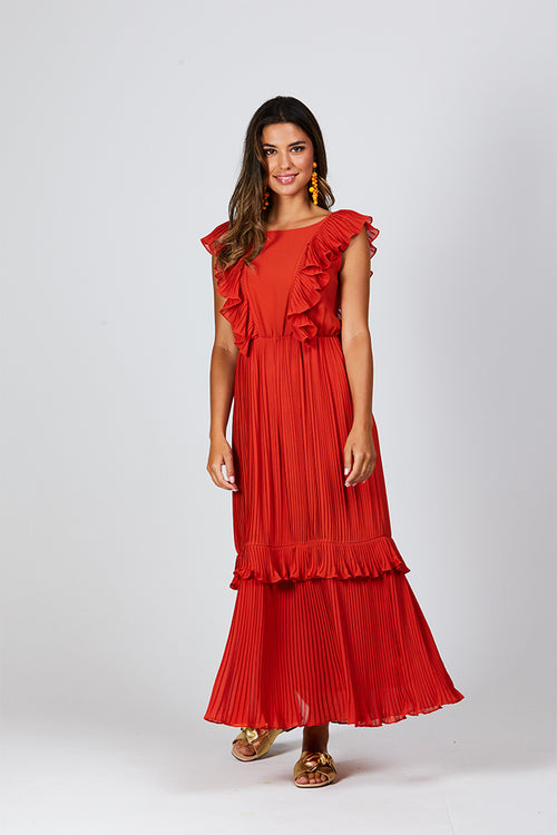 Sophie Dress - Burnt Orange