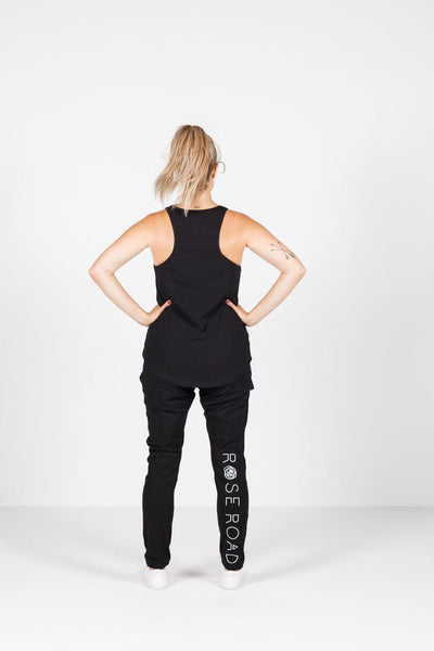 Rose Road Racerback Singlet - Black