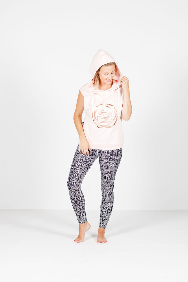 Rose Road Hooded Vest - Blush