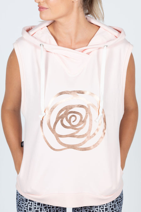 Rose Road Hooded Vest - Black