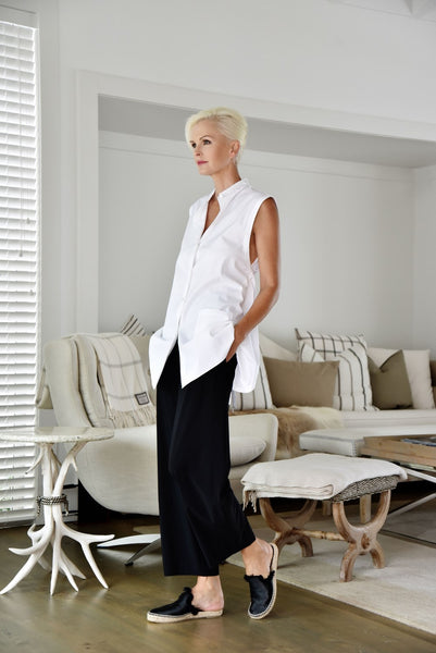 Sleeveless Tie Back Shirt - Paula Ryan