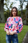 Augustine Pink Blooms Sweater