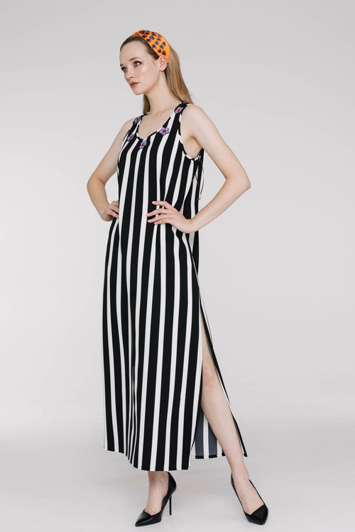 Barber Stripe Sunset Dress