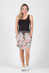 Lovely Skirt - Grey Floral - White Chalk