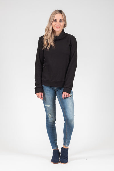 White Chalk - Max Jumper - Black