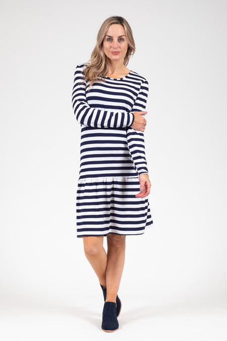Holster Dress - Navy Tuscan Sleeve