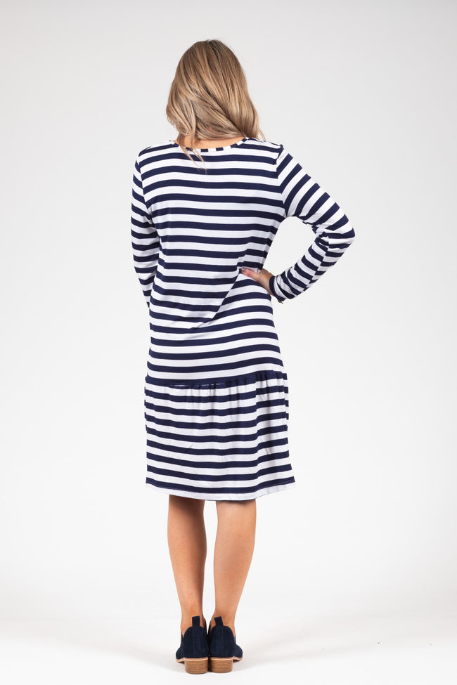 White Chalk - Kowhai Dress - N&W Stripe