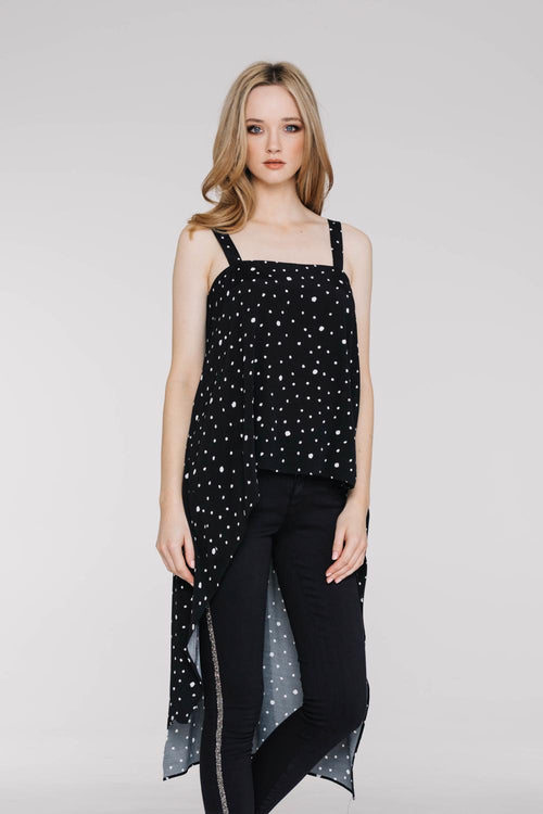 Wonder Tunic  - Black with Spots