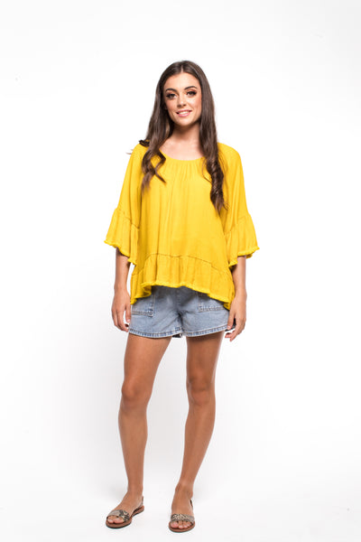 Zafina Saffron Top - Gold
