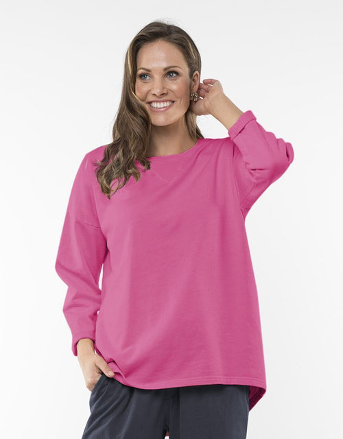 Elm Alice Crew Sweat Fuchsia