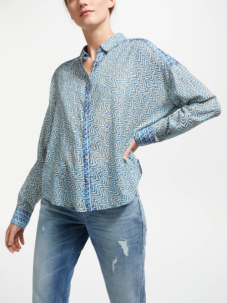 Shirt Blue Squiggles - Scotch & Soda