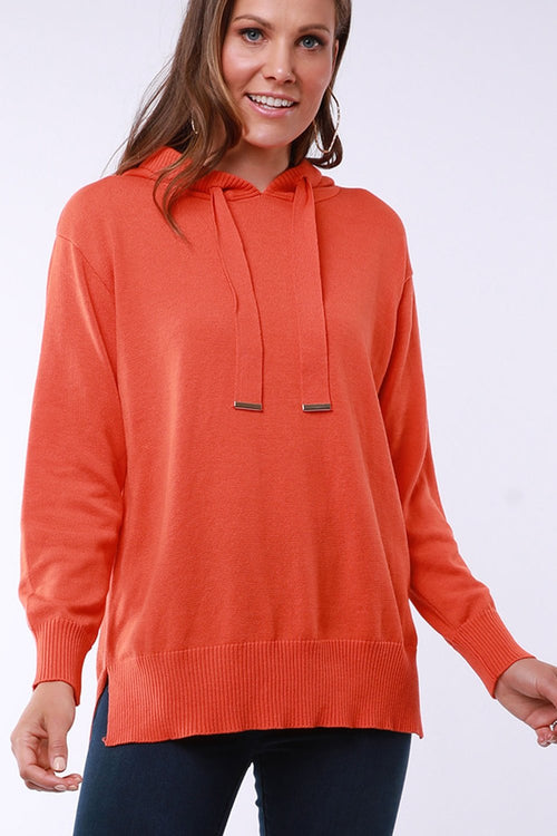 Elm Emma Knit Hoody - Orange