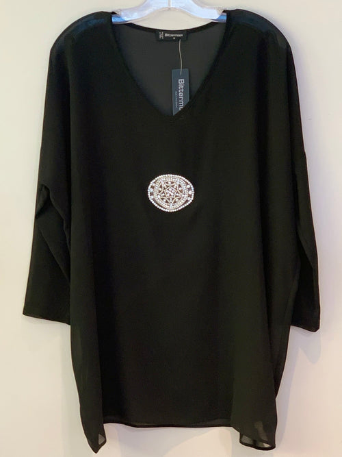 Bittermoon Diamante Top - Black