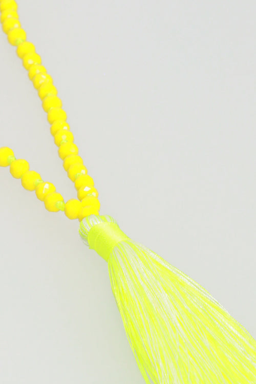 Tassel Necklace - Yellow