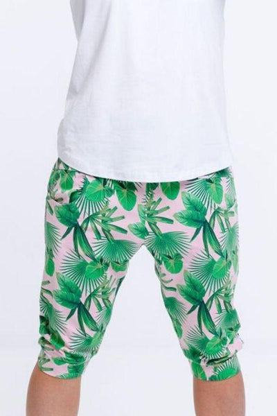 Home Lee Apartment Pants-3/4 Tropical Palm