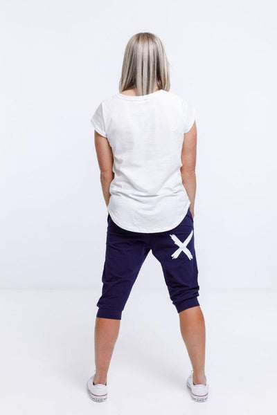 Home Lee 3/4 Apartment Pants - Navy / White X - PRE ORDER