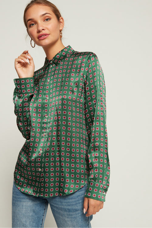 Silk Shirt Green - Scotch & Soda