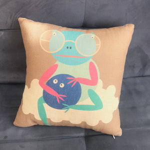 Fortune Frog Pillow