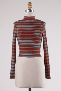 Candy Canes Ribbed Turtleneck