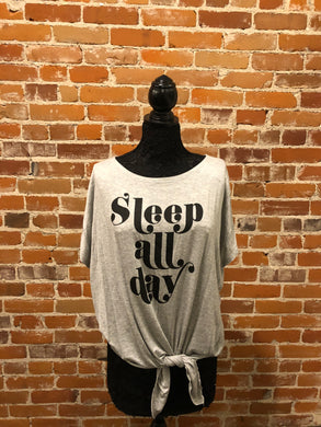 Sleep All Day Graphic Top