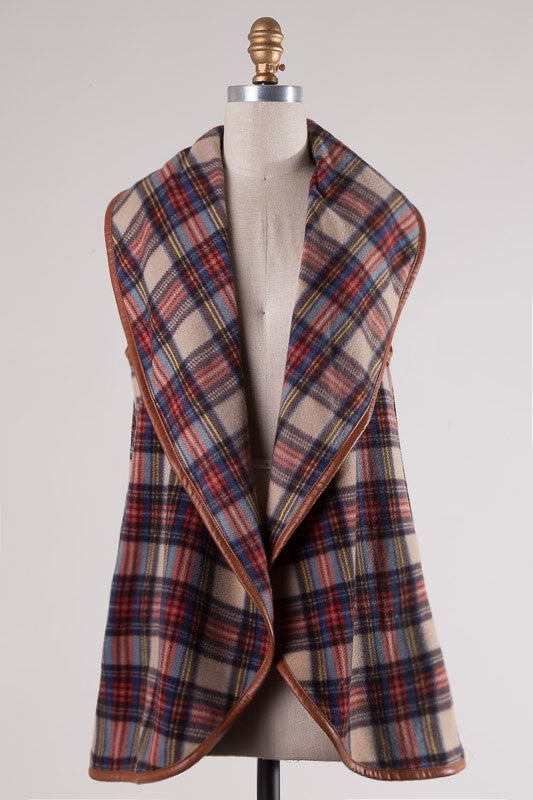 So Set Plaid Vest