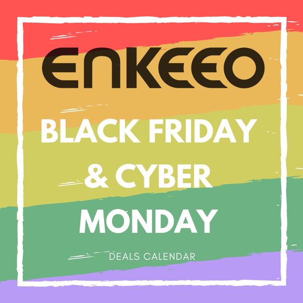 ENKEEO 2018 Black Friday & Cyber Monday Bargains' Calendar