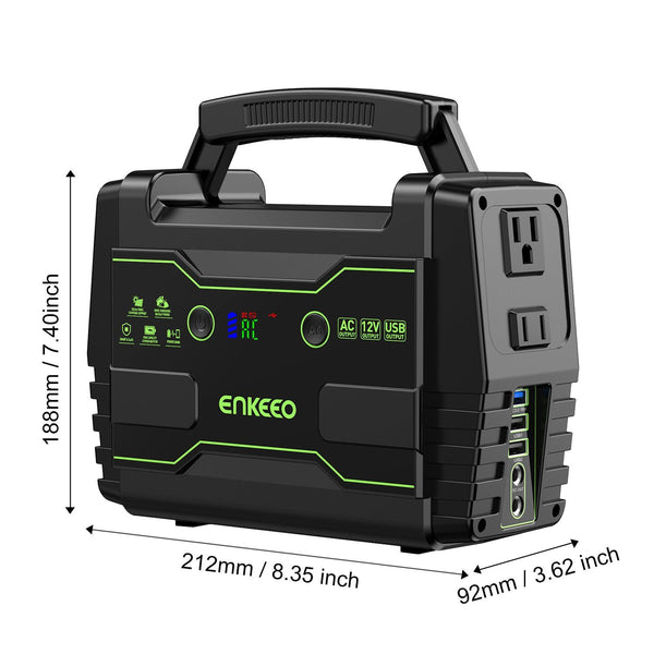 S155 Portable Power Station 155Wh Power Supply with AC/DC/QC3.0 USB Ports
