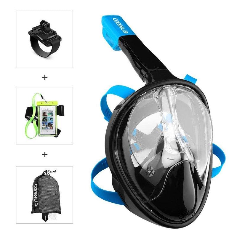 Full Face Snorkel Mask with 180° Panoramic View