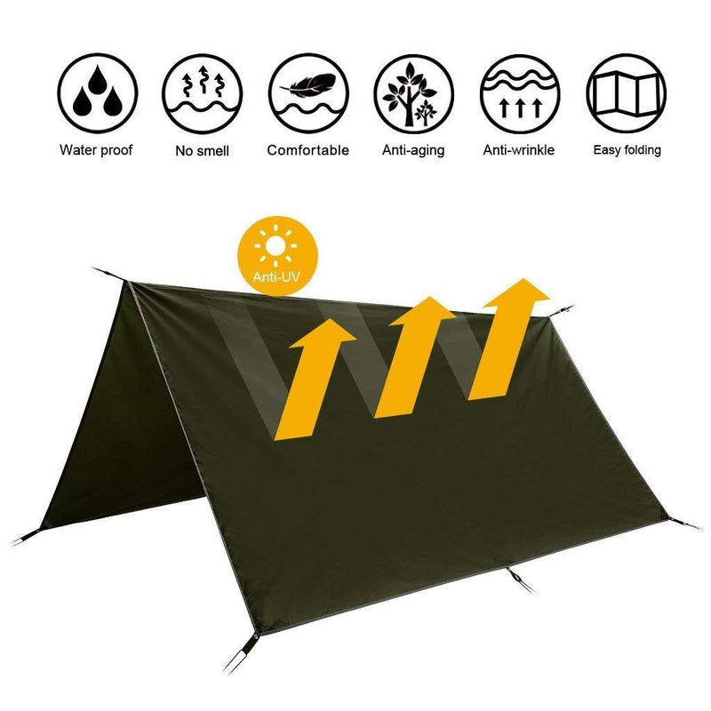 Waterproof Camping Tent Tarp, Green