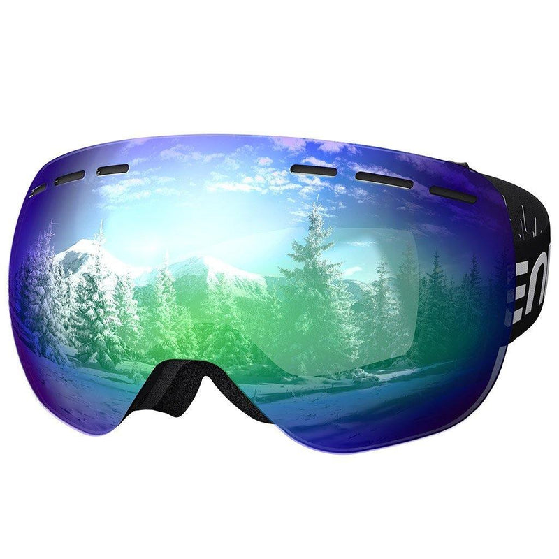 Dual Lens Anti-fog 100% UV400 Protection Ski & Snowboard Goggles (Adult / Kids)