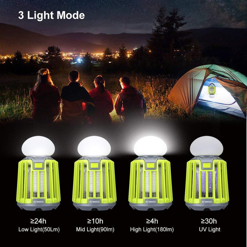 2-in-1 Camping Lantern, Clover Green