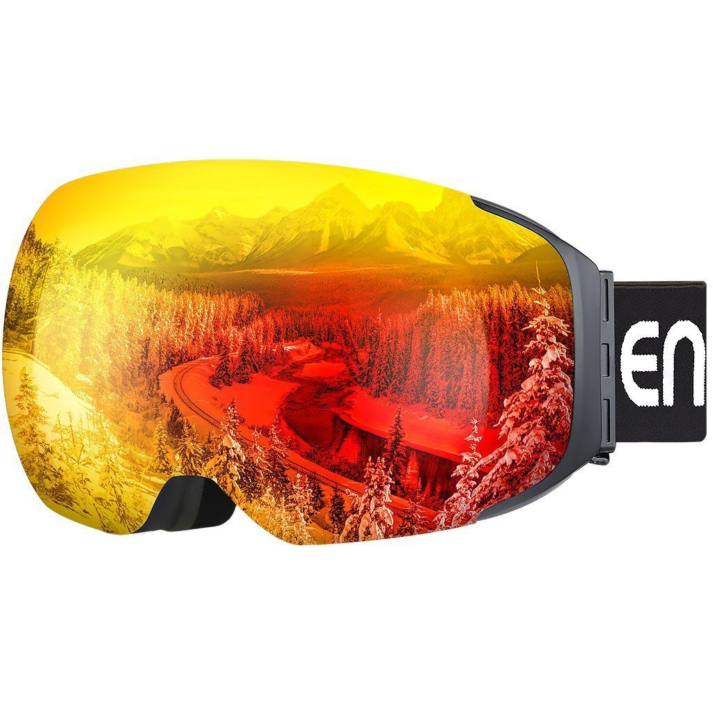 Detachable Dual Layer 100% UV400 Protection Frameless Ski Goggles