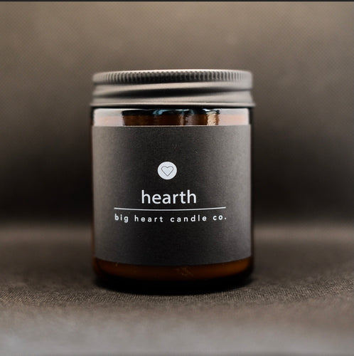 hearth (orange, cypress, pine, fir) scented coconut wax candle