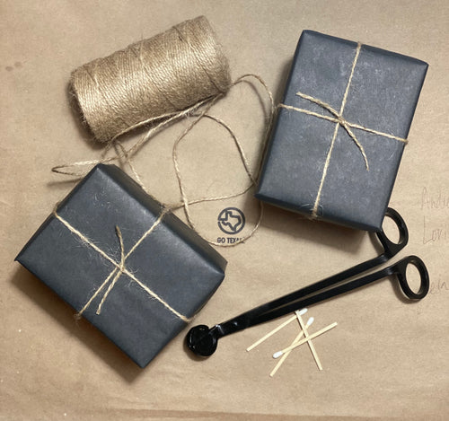 gift wrap your hand crafted candle