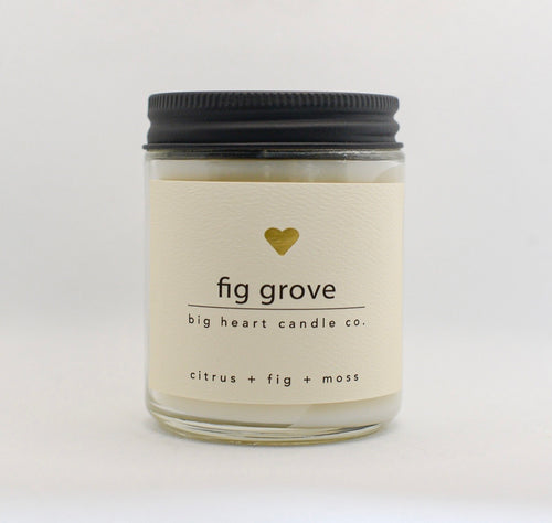 fig grove (green floral, fig, jasmine, musk, woods) coconut wax candle