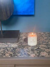 Load image into Gallery viewer, palo santo (devana, cedar, vetiver, tonka) scented coconut wax candle
